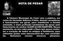 Nota de Pesar - Aldir Alves Martins
