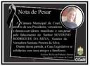 Nota de Pesar ao Senhor Severino Rodrigues da Silva