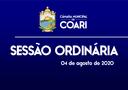 SESSÃO ORDINÁRIA DE 04 DE AGOSTO DE 2020