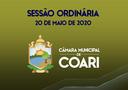 SESSÃO ORDINÁRIA DE 20 DE MAIO DE 2020