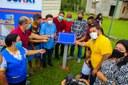 Vereadores participaram do lançamento do Pacote de Obras do governo municipal na comunidade São Francisco do Saubinha